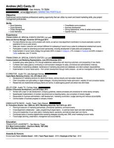 My professional resume
